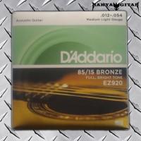 SENAR GITAR AKUSTIK/ACOUSTIC D'ADDARIO EZ900 FULL, BRIGHT TONE 012-054