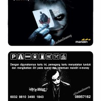 kartu emoney mandiri etoll e-money e-toll joker batman dark knight