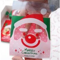 Jual packing natal christmas santa kantong plastik packaging cookies gift Murah