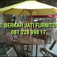 Kursi Meja Kain Payung Ayunan Jati Untuk Taman Rumah Kafe Hotel Cafe