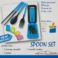 Spoon Set 3in1 Sendok Garpu Sumpit