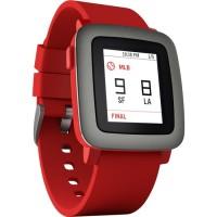Pebble Time Red Smartwatch | Smart Watch Merah