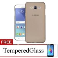 Case for Samsung Galaxy Alpha / G850 - Abu-abu + Gratis Tempered Glass
