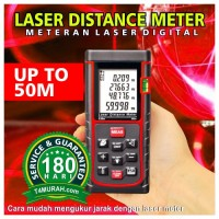 harga Laser Distance Meter 50m Portable/ Pengukur Meteran Laser DIgital Tokopedia.com