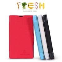 NOKIA X Nillkin Fresh Leather Flip Case armor bumper casing dompet