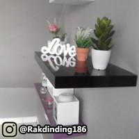 1 Rak Dinding, Minimalis, Gantung, Melayang, Kayu Uk. 60 x 30 x 4 cm