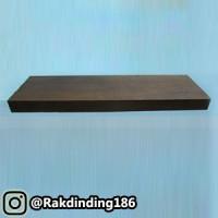 1 Rak Dinding, Minimalis, Gantung, Melayang, Kayu Uk. 60 x 10 x 3 cm