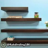 4 Rak Dinding, Minimalis, Gantung, Melayang Uk. 100,80,60,40 x 20