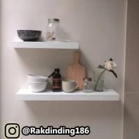 2 Rak Dinding, Minimalis, Gantung, Melayang, Kayu Uk. 60,40 x 15 x 3.4