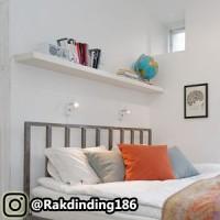 1 Rak Dinding, Minimalis, Gantung, Melayang, Kayu Uk. 100 x 10 x 3 cm