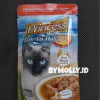 Harga makanan kucing princess chicken tuna salmon gravy | antitipu.com