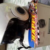 Helm Halfface Shark Nano putih glossy XL