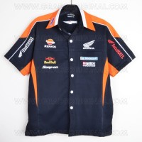 Kemeja Bordir Automotif MotoGP Honda Repsol Hitam