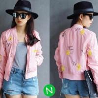 jaket bunga / jaket wanita / peluang bisnis sampingan tanpa modal