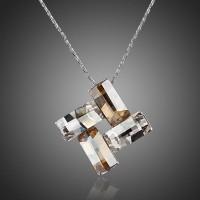 Kalung Lapis Emas Perak Rhodium Kristal TN0058