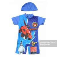 Babyzania Baju Renang Anak - Blue Big Hero