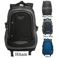Real Polo Tas Ransel / Backpack 6308 [Gratis Bag Cover]