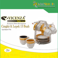 Cangkir SET Vicenza Cup and Saucer C78-1