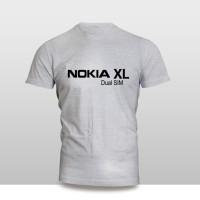 Kaos Baju Pakaian GADGET HANDPHONE NOKIA XL Dual SIM FONT murah
