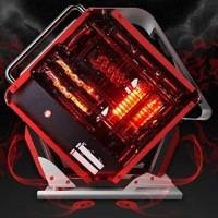 CUBE GAMING BEAST RED - Alumunium Case + Tempered Glass Double Side
