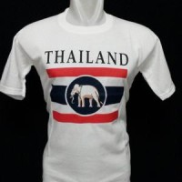 Jual Kaos Thailand Putih Bahan Katun Halus. Murah