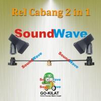 REL/PLAT BESI CABANG 2 HOLDER UNTUK STAND MIC/MIK/MICROPHONE/MIKROFON