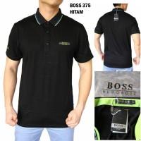 Polo Shirt Pria Hugo Boss 375 GRADE ORIGINAL (Kaos Cowok Import Murah)
