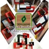 Rak gantung kotak / Rak dinding minimalis / Ambalan pajangan