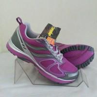Sepatu Desle CANDICE JOLIE ungu abu silver size 36-41