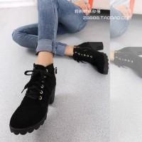 boot heels gesper hitam