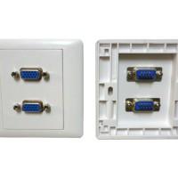 faceplate VGA 2 hole
