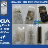 NOKIA 1202/1203 CASING TRANSPARAN FULLSET - BLACK & WHITE