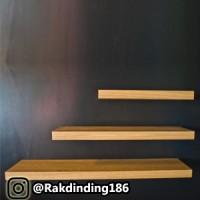 3 Rak Dinding, Minimalis, Gantung, Melayang, Kayu Uk. 80,60,40 x 25
