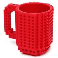 Think Geek TG300 Red Build-On Brick Mug