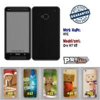 Garskin hp HTC One M7 V2 branded murah bisa pakai foto sendiri