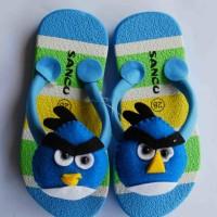 Jual sandal sancu boncu angry bird biru flat rate semua ukuran Murah