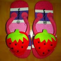 Jual sandal sancu boncu strowberry flat rate semua ukuran Murah