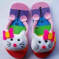 Jual sandal sancu boncu happy cat pink flat rate semua ukuran Murah