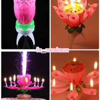music candle - flower candle - HBD candle - lilin ultah