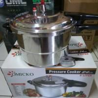 Jual omicko pressure cooker/panci presto 24cm 8Ltr Murah