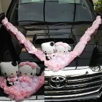 Jual Barika 4901 hiasan boneka wedding mobil pengantin hello kitty souvenir Murah