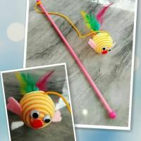 Cat Toys Stick Ikan / Mainan Kucing