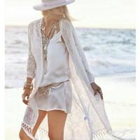 Jual Cardigan lace pantai / pelindung matahari / cover baju renang bikini Murah