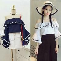 sabrina line ro] pakaian wanita blouse sabrina atasan wanita korea