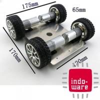 harga Aluminum Alloy Wheel Drive Car Tracking Car Robot Drive 4wd Smart Car Tokopedia.com