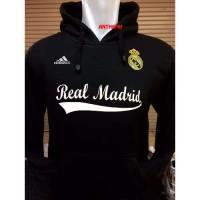 Hoodie Bola REAL MADRID Hitam Sweater Jaket Cardigan Polos Blazer
