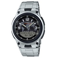 AW80D-1A2 jam tangan CASIO pria original tali stainless original peta