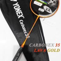 Raket Carbonex 35 LAVA GOLD EXTENDED Edition Extra Bonus Yonex Murah