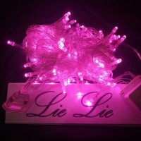 lampu natal led twinkle lurus tumblr hias warna pink