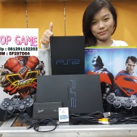 PAKET KOMPLIT Playstation PS2 Sony FAT + Hdd 40GB + 2 Stick Getar
